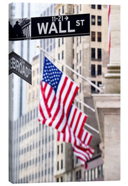 Canvas print  Wall street sign, New York Stock Exchange