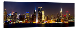 Acrylic print  Manhattan skyline with Times Square at night