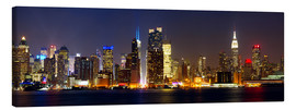 Canvas print  Manhattan skyline with Times Square at night