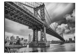 Aluminium print  The Manhattan Bridge