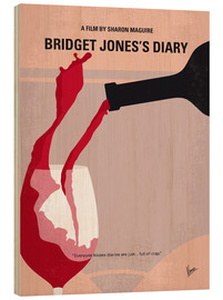 Wood print  Bridget Jones's Diary - chungkong