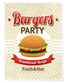 Premium poster  Hamburger Party