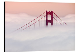 Aluminium print  Golden Gate Bridge in the clouds