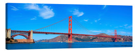 Canvas print  panoramic view of Golden Gate Bridge