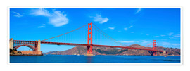 Premium poster  panoramic view of Golden Gate Bridge