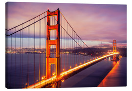 Canvas print  The Golden Gate Bridge at dusk, San Francisco