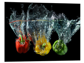 Foam board print  Peppers splash