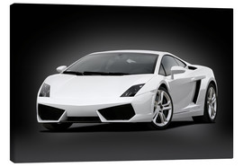 Canvas print  Dream car, black and white