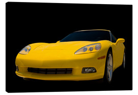 Canvas print  Yellow Corvette