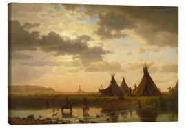 Canvas print  View of Chimney Rock - Albert Bierstadt