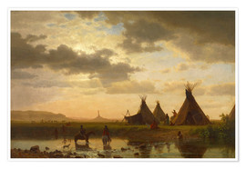 Premium poster  View of Chimney Rock - Albert Bierstadt