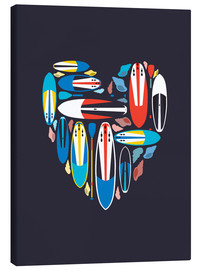 Canvas print  Surfboard Love