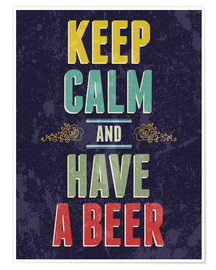 Premium poster  Keep calm and have a beer - Typobox