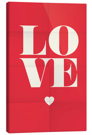 Canvas print  Love - Typobox