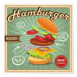 Premium poster  Delicious Hamburger