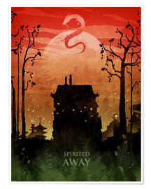Premium poster  Spirited away - Albert Cagnef