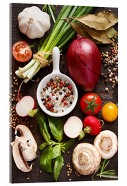 Acrylic print  Ingredients for Dinner