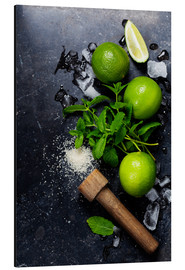 Aluminium print  Mojito ingredients