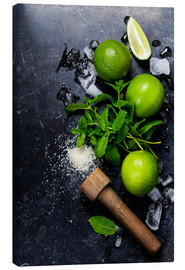 Canvas print  Mojito ingredients