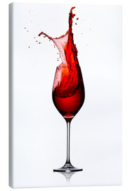 Canvas print  Red Wine Glass