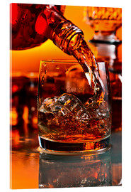 Acrylic print  whiskey and ice