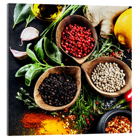 Acrylic print  Herbs and spices