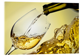 Acrylic print  White wine in a wine glass