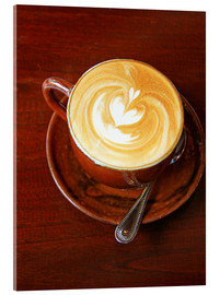 Acrylic print  Cappuccino with heart shape