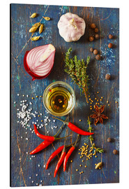 Aluminium print  Spices and Herbs