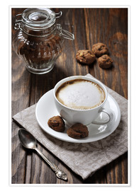 Premium poster  Cup of Coffee with Cookies