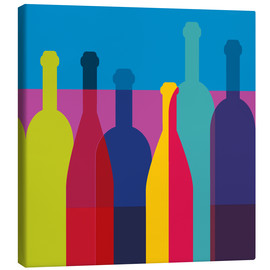 Canvas print  Wine bottles