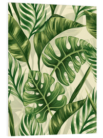 Foam board print  Monstera