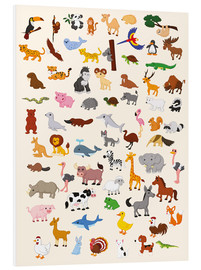 Foam board print  Animal World - Kidz Collection
