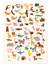 Premium poster  Animal World - Kidz Collection