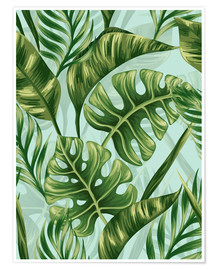 Premium poster  Monstera Leaves