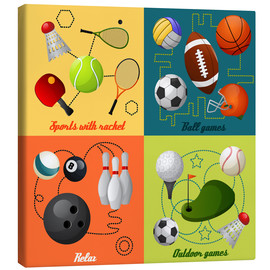 Canvas print  Do some sports - Kidz Collection