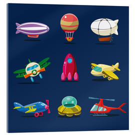 Acrylic print  From the skies - Kidz Collection