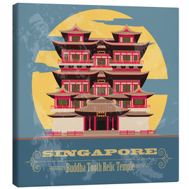 Canvas print  Singapore - Buddha Tooth Relic Temple