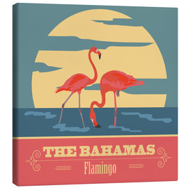 Canvas print  The Bahamas - Flamingo