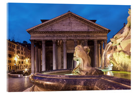 Acrylic print  Pantheon at twilight, Rome, Italy - Circumnavigation