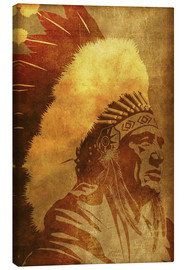 Canvas print  Native American retro