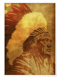 Premium poster  Native American retro