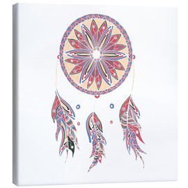 Canvas print  Dream Catcher red-blue
