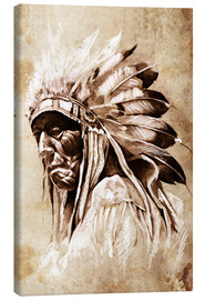 Canvas print  Native American elder