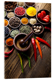 Acrylic print  Spice kitchen