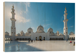 Wood print  Dubai - Sheikh Zayed mosque