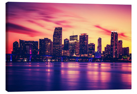 Canvas print  Miami at sunset, USA