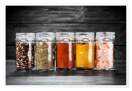 Premium poster Spices in glass
