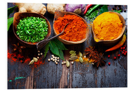Foam board print  Colorful spices diversity