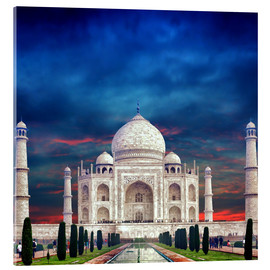 Acrylic print  Taj Mahal in India